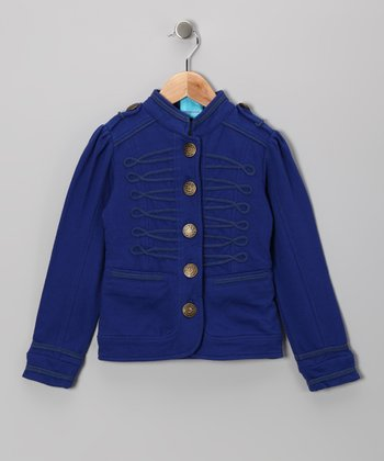 Blue Military Jacket - Toddler & Girls