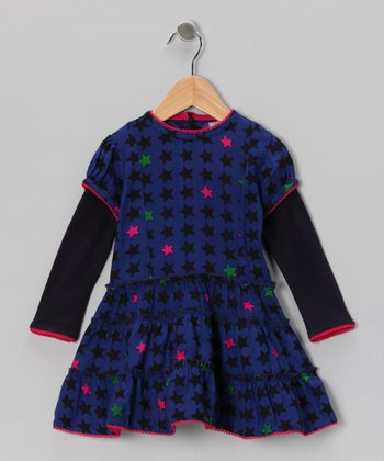Blue Star Layered Dress - Infant