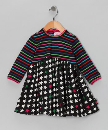 Black Star & Stripe Dress - Infant