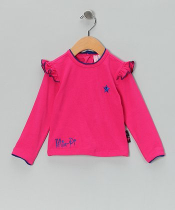 Pink Star Ruffle-Sleeve Tee - Infant