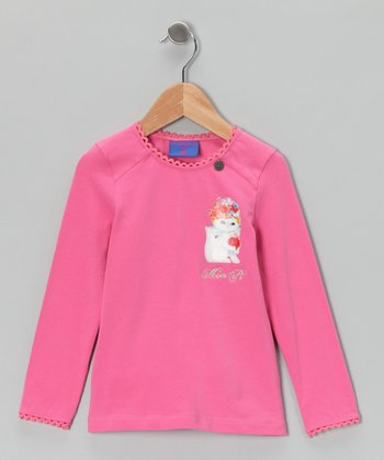 Pink Kitten Tee - Toddler & Girls