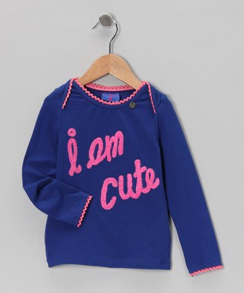 Blue 'I Am Cute' Tee - Toddler & Girls