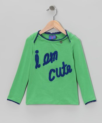 Green 'I Am Cute' Tee - Toddler & Girls