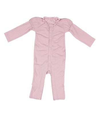 Pink Gathering Flowers Ruffle Playsuit - Infant
