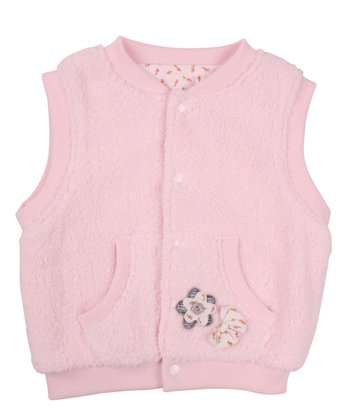 Baby Pink Puffy Zip-Up Vest - Infant, Toddler & Girls