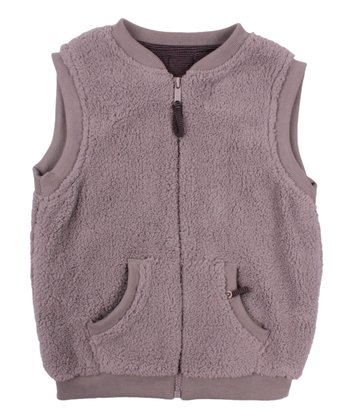 Baby Gray Puffy Zip-Up Vest - Toddler & Boys