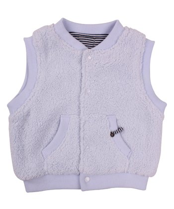 Baby Blue Puffy Zip-Up Vest - Kids