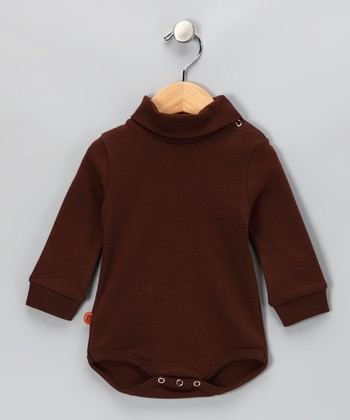 Brown Turtleneck Bodysuit - Infant