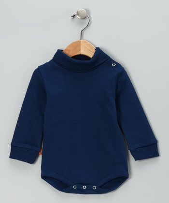 Navy Blue Turtleneck Bodysuit - Infant