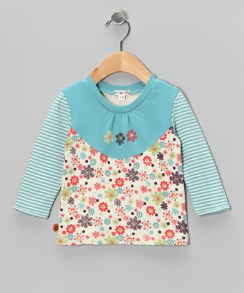 Teal & Lime Floral Top - Infant