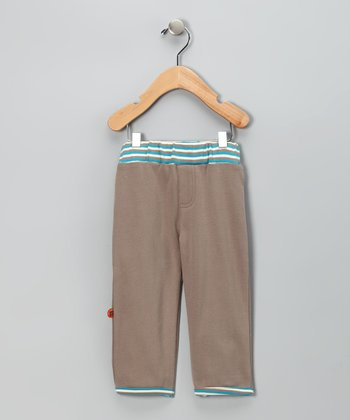 Light Brown Stripe Waistband Pants - Infant