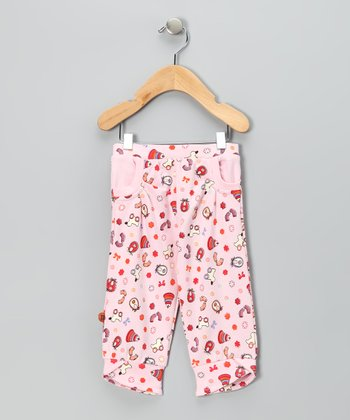 Light Pink Sweet Home Cuffed Pants - Infant