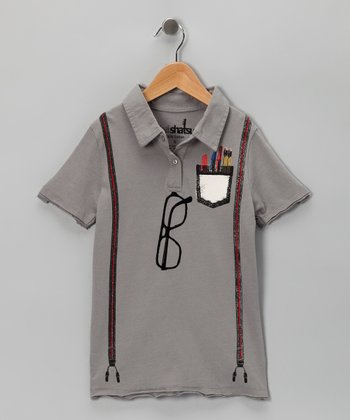 Gray Boy Genius Polo - Infant & Kids