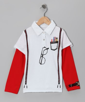 Red Genius Layered Polo - Infant & Boys