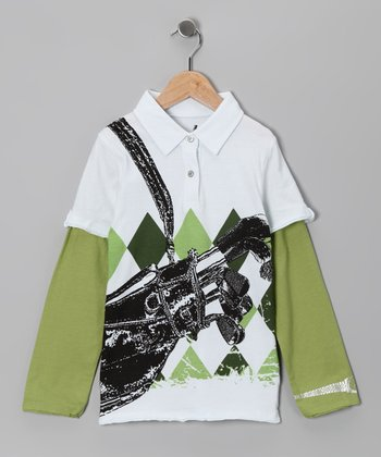 Green Pro Golfer Layered Polo - Infant & Boys