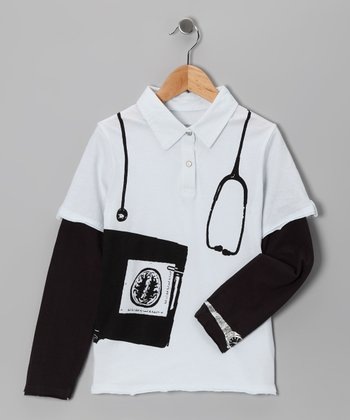 White M.D. Layered Polo - Infant