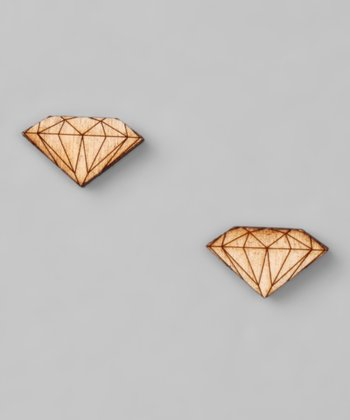 Brown Diamond Birch Earrings
