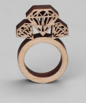 Brown Gem Birch Ring