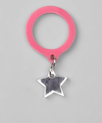 Pink & Silver Mirror Star Ring