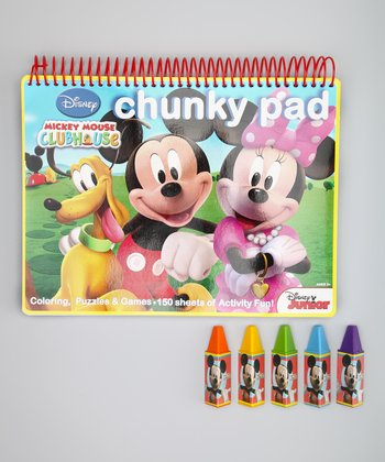 Minnie Mouse Chunky Pad & Crayon Set