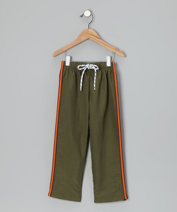 Olive Stripe Pants - Toddler & Boys