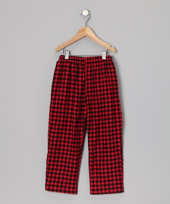 Red Gingham Pants - Toddler & Boys