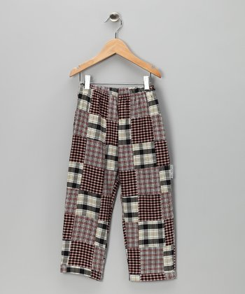 Black Patchwork Pants - Infant, Toddler & Boys
