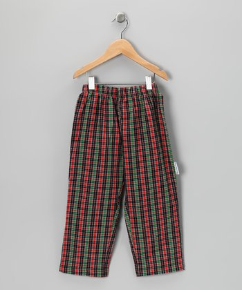 Green & Red Plaid Pants - Infant