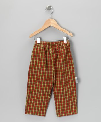 Chartreuse & Red Plaid Pants - Infant, Toddler & Boys