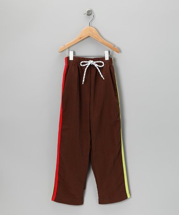 Brown & Red Stripe Pants - Infant, Toddler & Boys