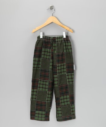 Green & Red Patchwork Pants - Infant, Toddler & Boys