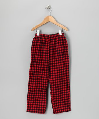 Red Gingham Pants - Toddler