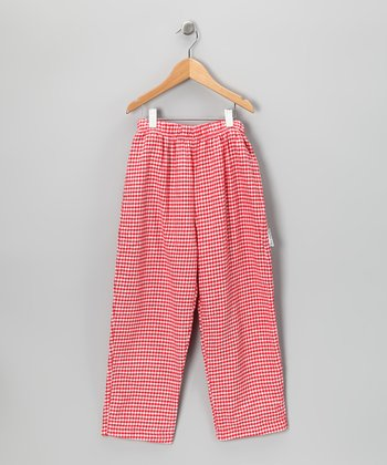 Red & White Gingham Pants - Infant, Toddler & Boys