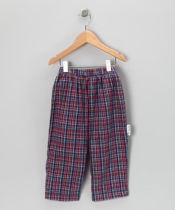 Navy & Red Plaid Pants - Infant, Toddler & Boys