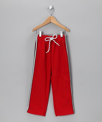 Red & White Stripe Pants - Toddler & Boys