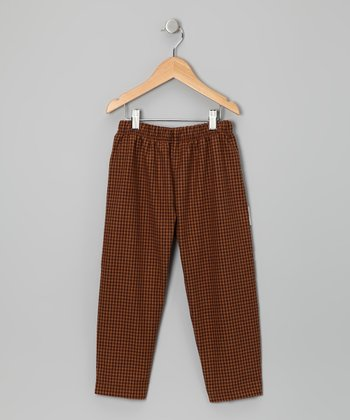 Camel Gingham Pants - Toddler & Boys