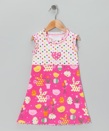 Pink Polka Dot Easter Dress - Toddler & Girls