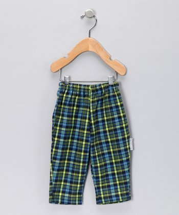 Blue & Green Flannel Pants - Infant, Toddler & Boys