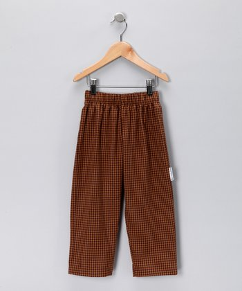 Brown Checkered Flannel Pants - Toddler & Boys