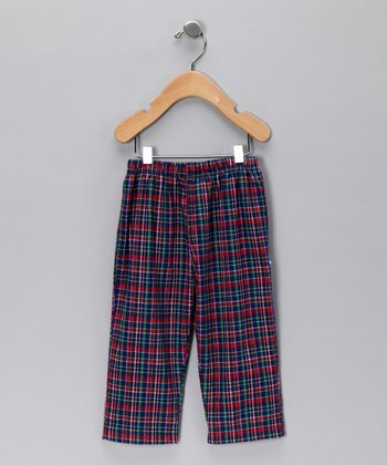 Blue & Red Plaid Pants - Infant, Toddler & Boys