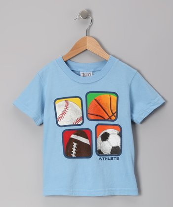 Denim Blue Four Square Sports Tee - Toddler & Boys