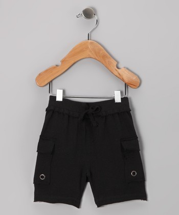 Black Cargo Shorts - Infant, Toddler & Boys