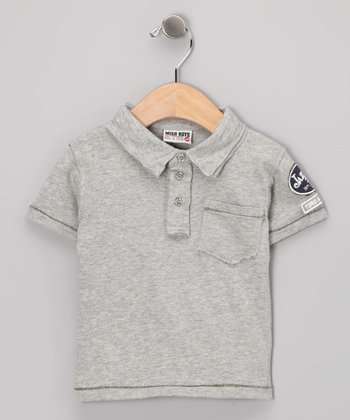 Gray Patch Polo - Infant, Toddler & Boys