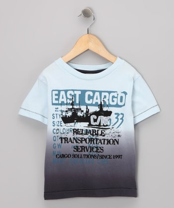 Navy 'East Cargo' Burnout Tee - Boys