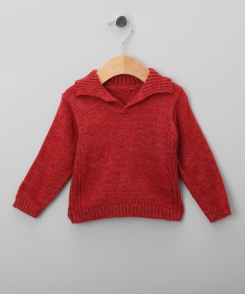 Miski Wawa Cherry Vigore Wool-Blend Sweater - Infant