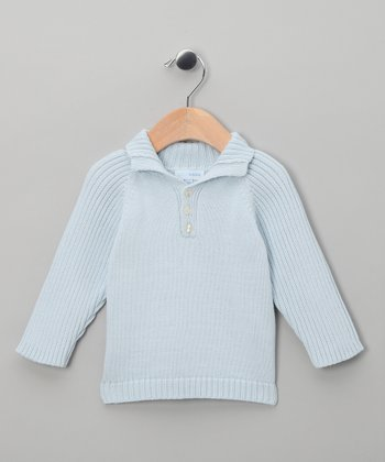 Miski Wawa Light Blue Sweater - Infant & Toddler