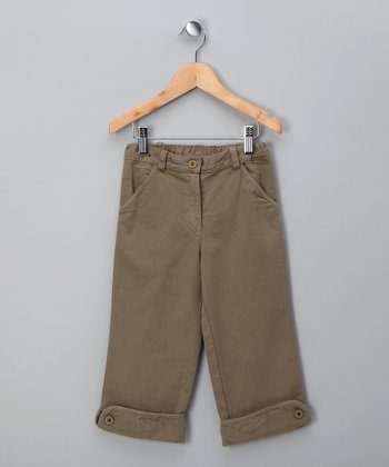 Khaki Cuff Pants - Toddler