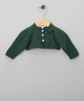 Green Bow Shrug - Infant & Girls