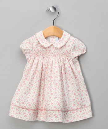 Pink Floral Smocked Dress - Infant & Toddler