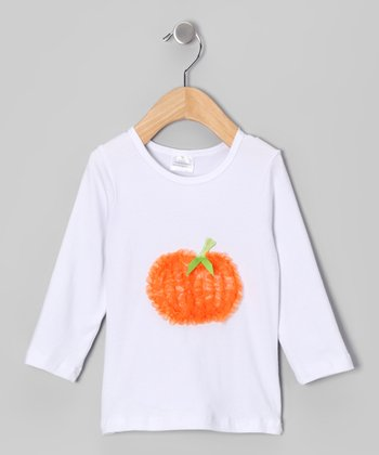 White Pumpkin Tee - Infant, Toddler & Girls